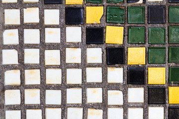 Old diagonal colorful mosaic