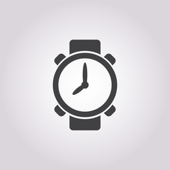watches icon on white background