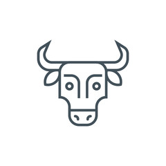 Meat, cow, bull, dairy food icon