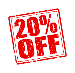 20% OFF red stamp text