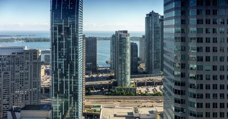 Skyscraper in city against sky, Toronto, Ontario, Canada