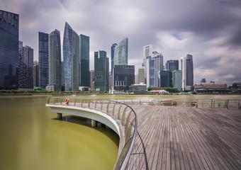 Marina Bay Sands skyscrapers on Singapore