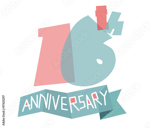 Happy 16th Anniversary Stock Image And Royalty Free Vector Files On