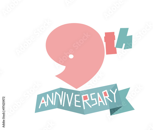 Happy 9th Anniversary Stock Image And Royalty Free Vector Files On