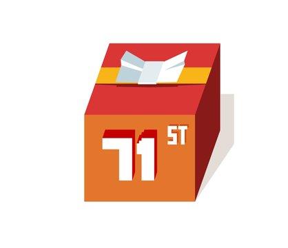 box present for happy 71st birthday