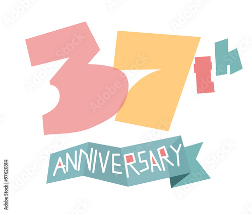 Happy 37th Anniversary Stock Image And Royalty Free Vector Files On