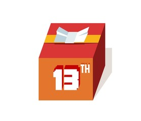 box present for happy 13th birthday