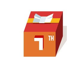 box present for happy 7th birthday