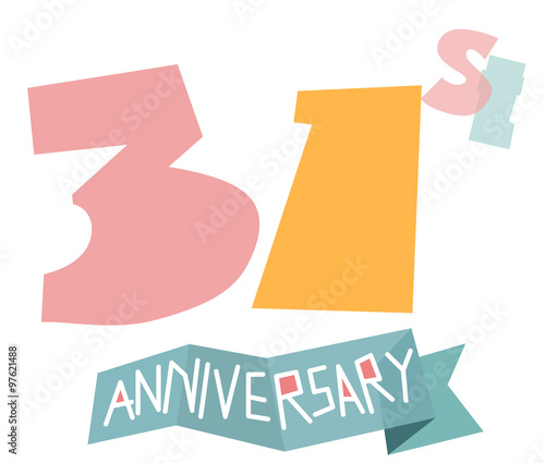 Happy 31st Anniversary Stock Image And Royalty Free Vector Files On