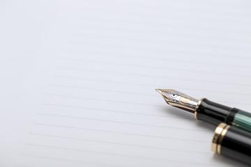 万年筆と便箋