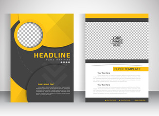 Template for brochure or flyer place for pictures. Editable site for business, education, presentation, website, magazine cover.