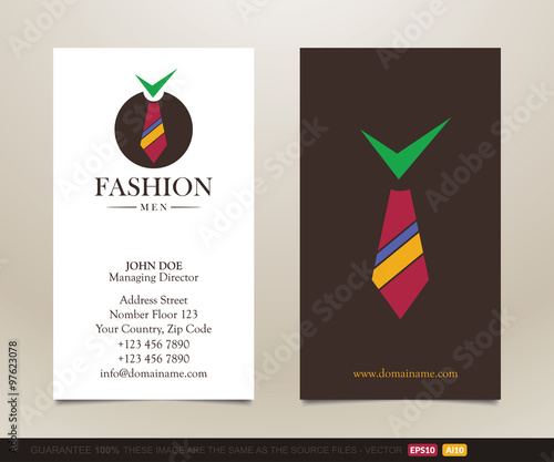tuxedo logo and business card design stock image and royalty free vector files on fotoliacom pic 97624203 - Fashion Designer Business Card