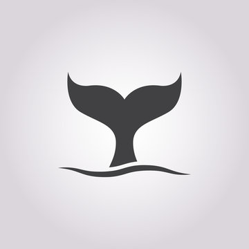whale icon on white background