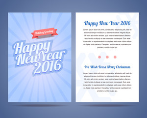 Happy New Year 2016 and Merry Christmas 2016 flyer