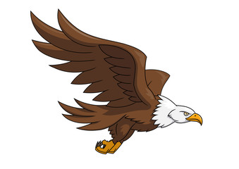 Flying eagle illustration 3