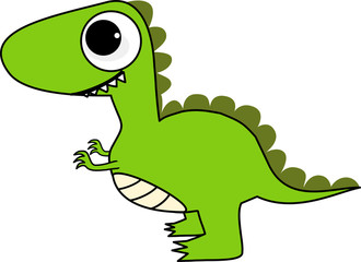 Cute and Happy Dinosaur Cartoon