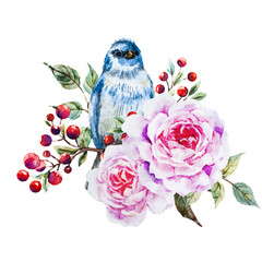 Photo sur Toile Bestsellers Nice vector watercolor birds