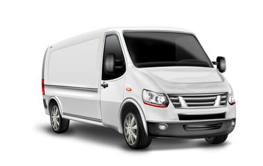 Lieferwagen,  Kastenwagen, Kleintransporter, freigestellt
