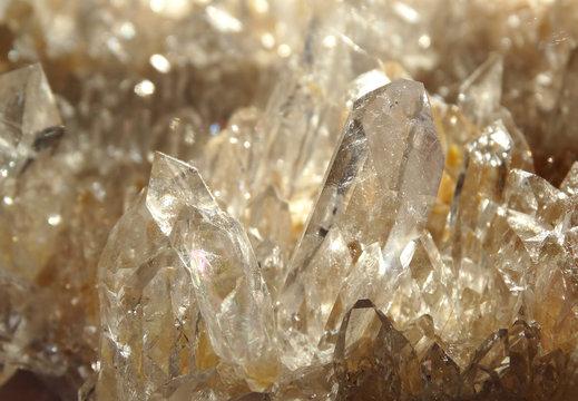 clear rock crystal quartz geode geological crystals