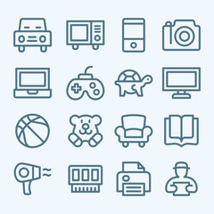 Set of line icons for e-commerce