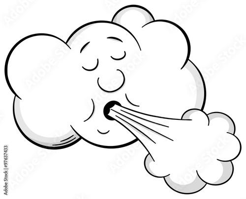 Cartoon wolke b st kr ftigen wind stockfotos und - Nuage et vent ...