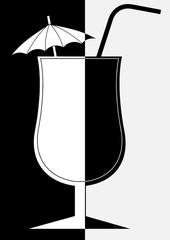 Cocktail en noir et en blanc