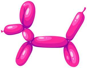 Dog shape balloon in pink color