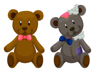 New and old teddy bears