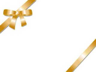Golden gift ribbon bow