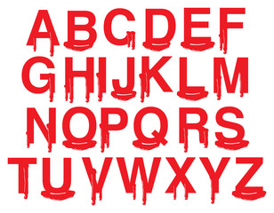Vector Fonts with Graphic Blood and Gore