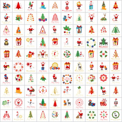 Christmas Icons And Elements Set - Vector Illustration, Graphic Design