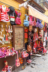 Souvenirs in Seville Andalucia Spain