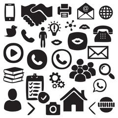 Hand drawn Social, Network icon set vector illustration