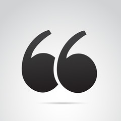 Quotation vector icon.