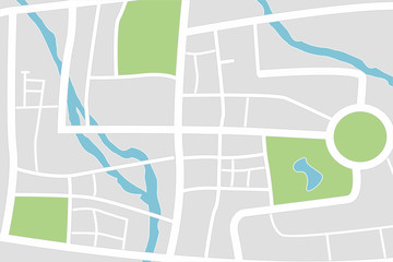 City map. Abstract town plan.