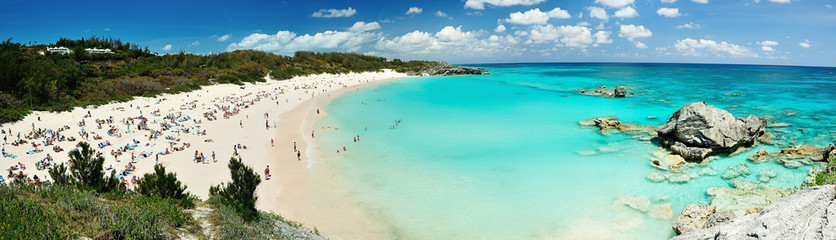 Foto auf Leinwand Tropical strand Beach on Bermuda islands