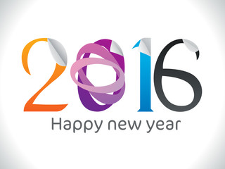 abstract sticker based new year text