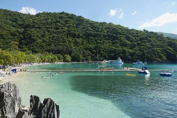 Bay in Labadee island Haiti