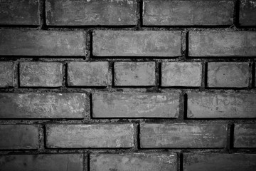 Wall Mural - Closeup of the red brick wall in monochrome