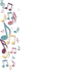 Notes de musique-gauche