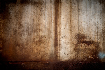 Wall Mural - Closeup of the rust on the old and weathered wall