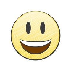 Lachendes Gesicht mit offenem Mund