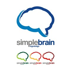 Simple Brain Design Logo Vector