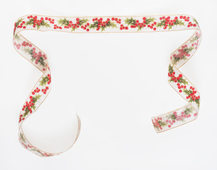 Holly Ribbon Banner