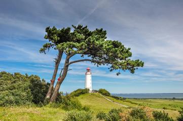 Leuchtturm Dornbusch auf der Insel Hiddensee