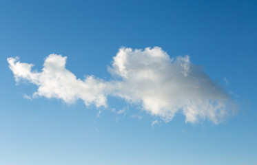 Abstract shape clouds in clear blue sky