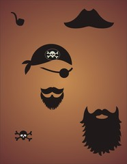 pirate face items