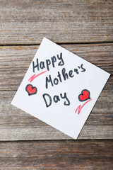 Happy mothers day card made by a child
