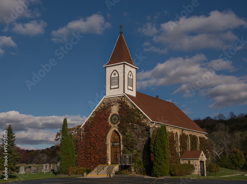 Wall mural Vine Covered Church