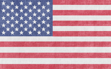Flag of the United States of America - textured vintage look
